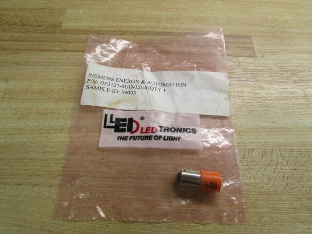 LEDTronics PF50-OUR  120Vac//150Vdc  Panel Mount  LED Indicator Light   Lots of 5