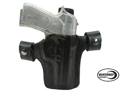 Sig Sauer P232 3.6 inch barrel IWB dual snap Leather Holster R//H Black