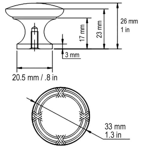 """30 Satin Nickel /& Brushed Nickel  1 1//4/"""" Ribbon /& Reed  Kitchen Round Knobs"""