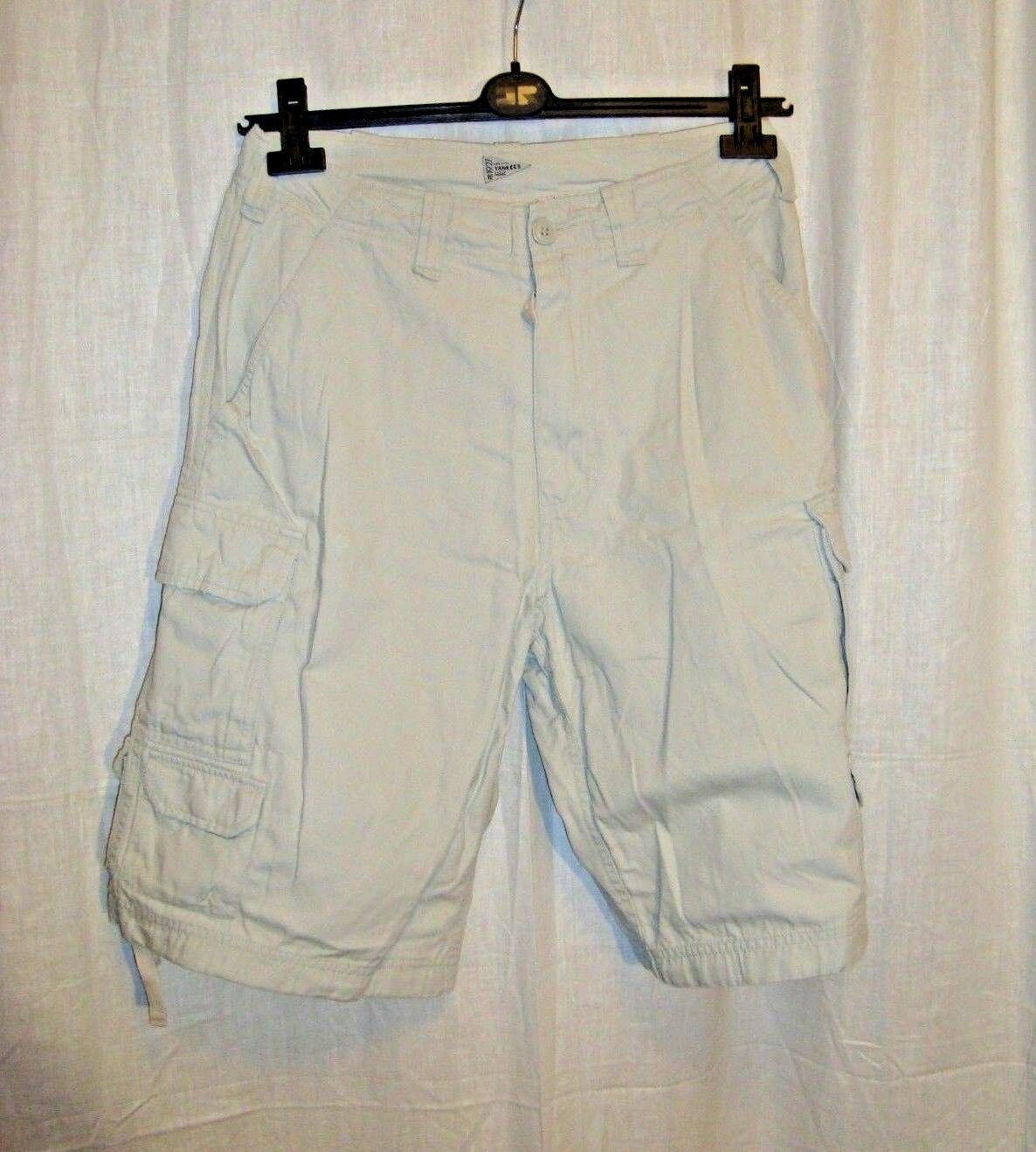 3a048a6582d Men's Majestic Athletic YORK YANKEES embro cargo combat shorts sz S ...