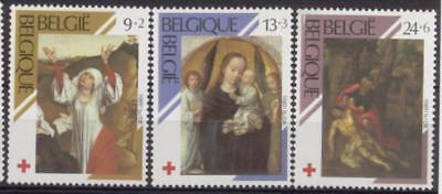 Agressief Belgium**red Cross-3vals-paintings Vdweyden-g. David-madonna-crucifixion-1989-