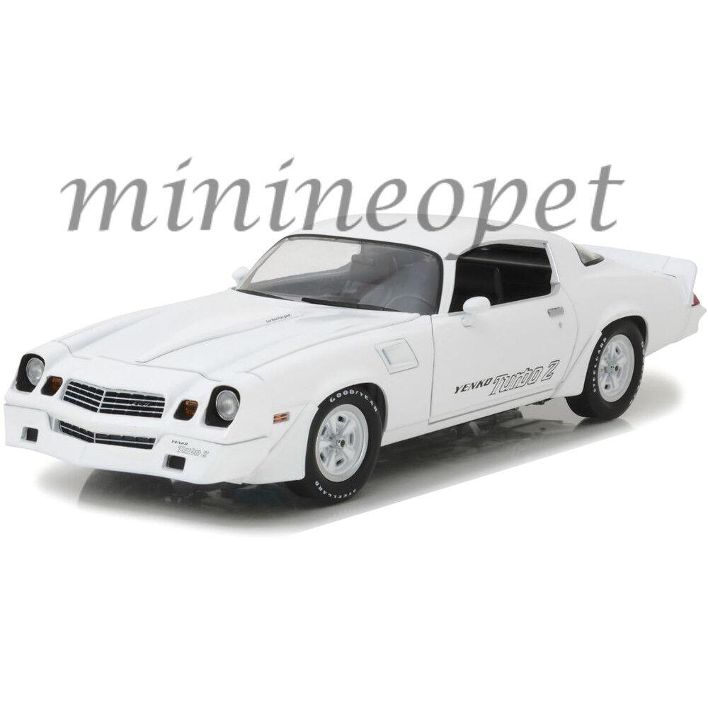 online barato verdelight 12998 1981 Chevrolet Camaro Z 28 Yenko Turbo Turbo Turbo Z 1 18 Diecast blancoo  saludable
