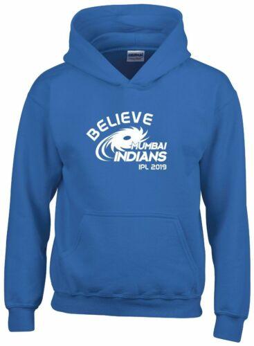 Believe Mumbai Indians IPL 2019 Cricket Hoodie Mens