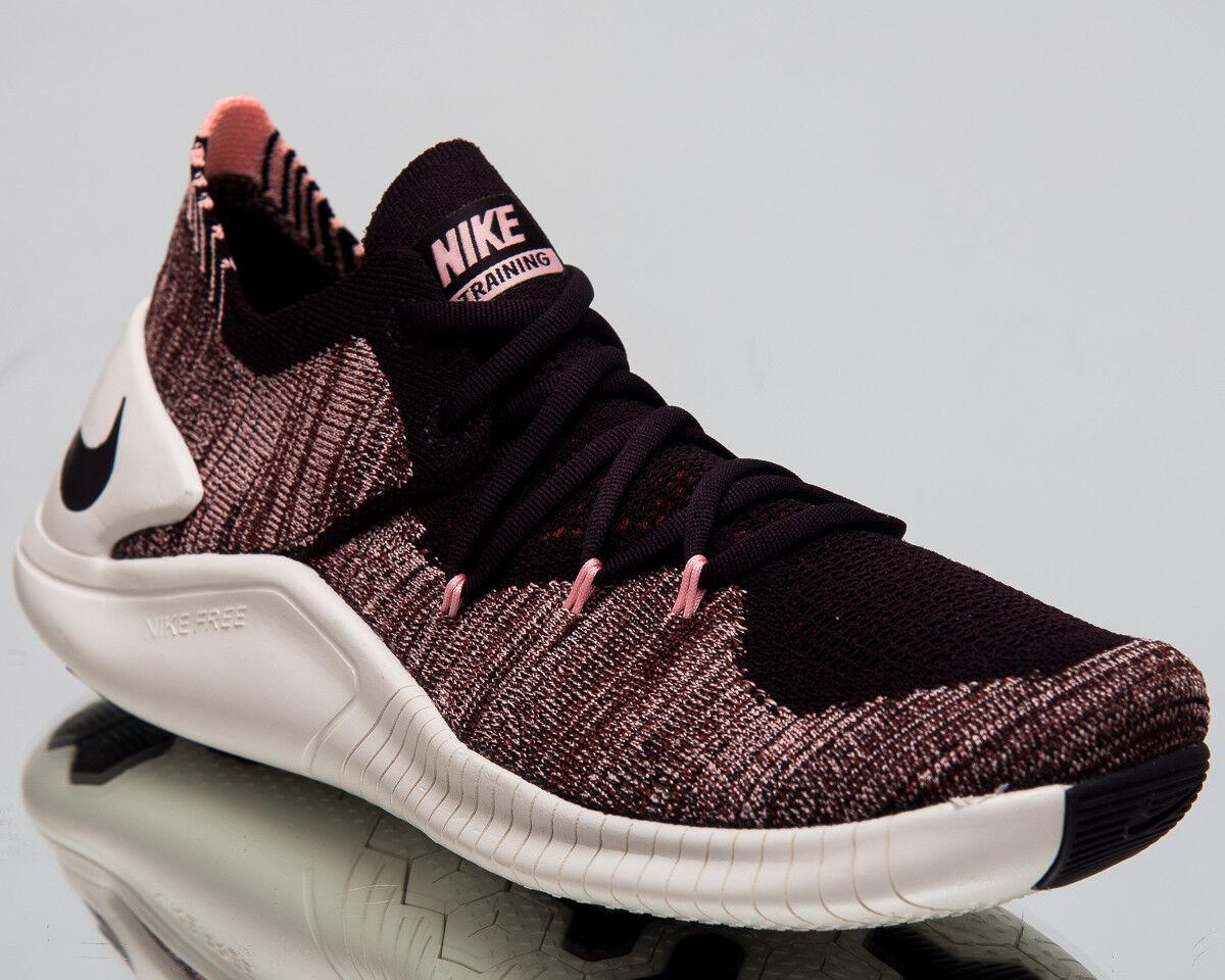 Nike Mujeres Flyknit Free TR Flyknit Mujeres 3 Entrenamiento Zapatos Zapatillas De Ceniza Borgoña 942887-662 525be9