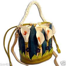 Women Handbag Messenger Bags Shoulder Bucket Bag Totes Braccialini Lilies Flower