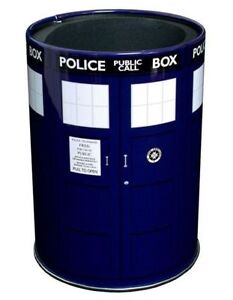 NEW Dr Doctor Who BLUE TARDIS Metal Can Cooler / Stubby Holder - Ikon BBC