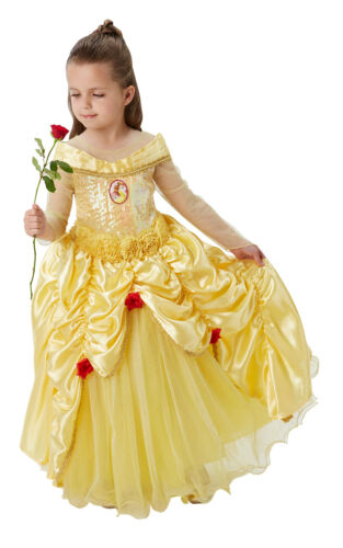 Girls Fancy Dress Book Week Costume Rubie/'s Official Premium Princess Belle