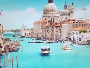 Led immagine illuminazione tela canale di venezia grande quadro