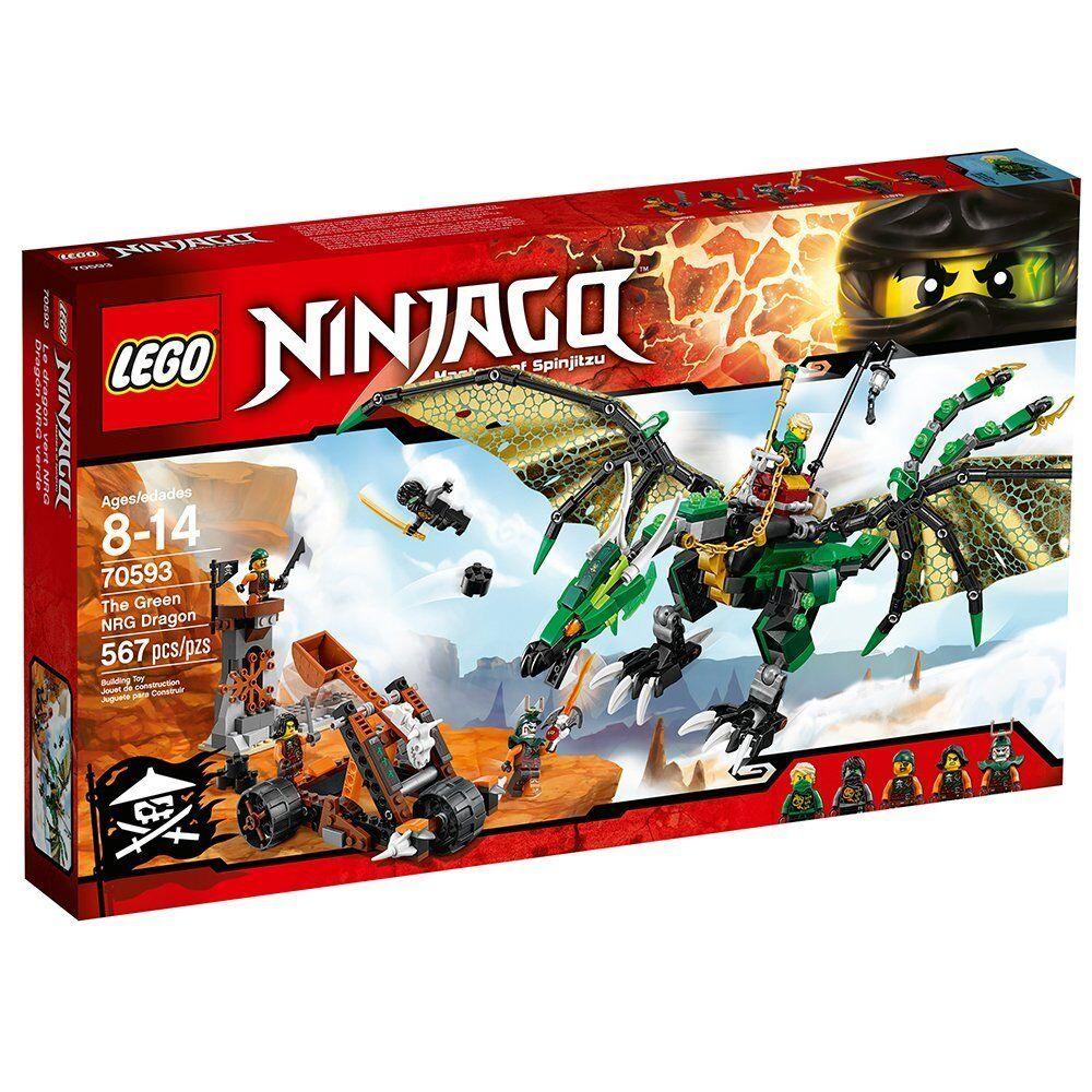 LEGO 70593 - Ninjago - Grün NRG DRAGON - New & Meerled