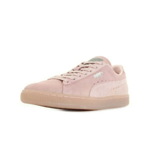 fe9d01ff0437 Chaussures Baskets Puma femme Suede Mono Ref Iced taille Rose Cuir ...