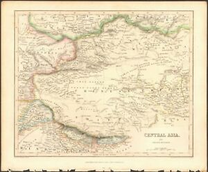 1840 ca ANTIQUE MAP - CENTRAL ASIA, MIDDLE DIVISION, CHINESE EMPIRE ...