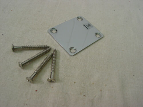 FENDER SQUIER STRAT PLAIN NECK PLATE w//MOUNTING SCREWS TELE STRATOCASTER NEW