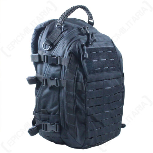 Noir Découpe Laser molle Mission Pack-Grande taille-Sac à dos militaire armée NEUF