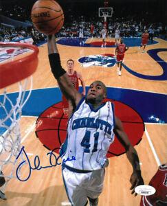 Glen Rice signed Charlotte Hornets 8x10 Photo- JSA Authenticated