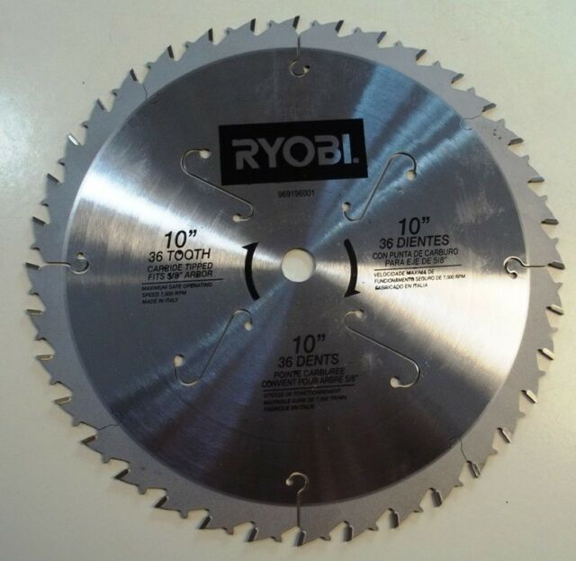 10 carbide tipped 36 tooth blade for ryobi bt3000 table saw ebay oem carbide tip saw blade 36 tooth for ryobi 10table greentooth Image collections