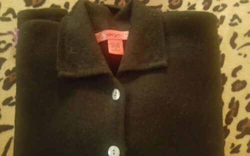 Black M Embroidered Cardigan Skyr Boiled Wool Sweater T8x8gqv