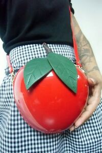 Brillant Apple Rouge Kawaii Main À Pin Original up Red Pomme Sac Forme 6O0ZUwWq