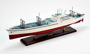 Details about NS Savannah Nuclear-Powered Merchant Ship Handmade Wooden  Ship Model 38