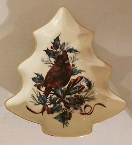 Lenox Christmas Winter Greetings Tree Shaped Dish With ...