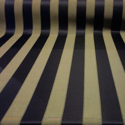 """Damask Jacquard Brocade Striped Fabric 118"""" By the Yard MANY COLORS!"""