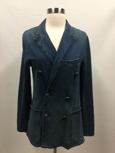 Blazer Sz Polo Denim 4 Cotton Knap Nautisk Lauren Look Jacket Ralph Preppy wBSz4xgqYn