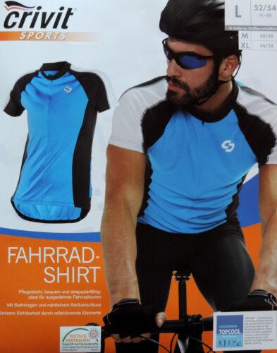 Herren Fahrradshirt M L XL Radshirt Fahrrad Shirt Radtrikot Rad Trikot BLAU NEU