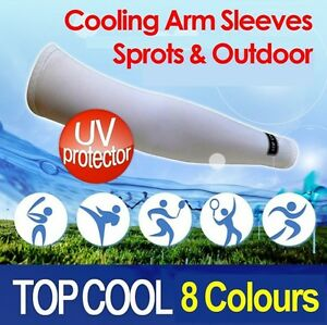 Cooling-Sport-Arm-Stretch-Sleeves-Sun-Block-UV-Protection-Cycling-Covers-1-Pair