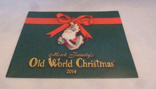 2014 Holiday Catalog Glass Ornaments, Merck Family/'s Old World Christmas
