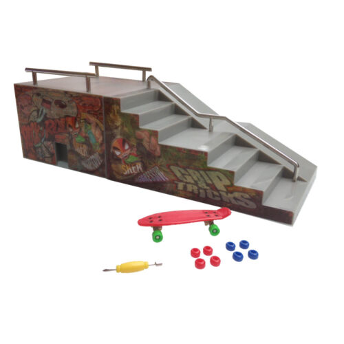 Cadeau de Noël Grip & Tricks - Rampes  Finger skate - FUNBOX - : 28 X 12 X 10 cm