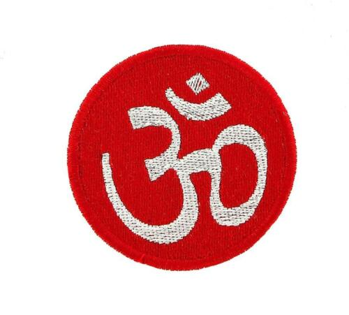 Patch Patch Embroidered Fusible Backpack Ohm Red Buddha Symbol