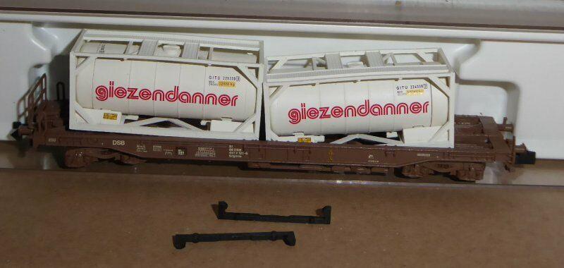 Fleischmann 845302 Vagón con 2 Contenedores Giezendanner el Osd Epoche 4 6
