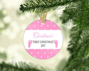 image is loading personalized baby 039 s first 1st christmas ornament