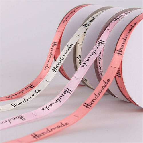 "25 yds grosgrain ribbon width 2//5/"" handmade printed trims craft making supplies"