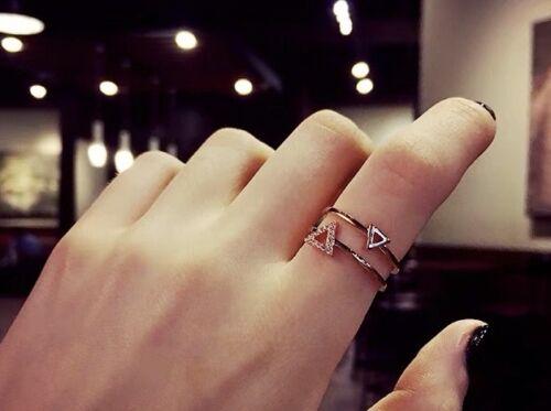 Y*L091 Fancy triangle ring uk size L us size 6