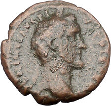Antoninus Pius Marcus Aurelius Father sacrificing  Big Ancient Roman Coin i45634