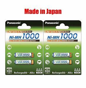 4-2-x-2pk-Panasonic-High-Capacity-rechargeable-AAA-battery-Ni-MH-1000mAh