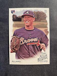 2019 Allen and Ginter #279 Kolby Allard Atlanta BravesRookie Card RC