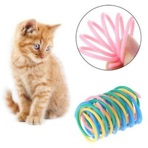 5X-Cat-Toys-Colorful-Spring-Plastic-Bounce-Pet-Kitten-Random-Color-Interactive-I