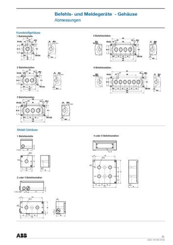 Nr 4070.0136 CombiLine Gehäuse für 6 ABB Drucktaster MEP6-0