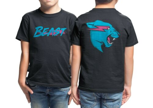 Kids Lightning Beast Tee MrBeast Merch Youth Mr Beast T-Shirt Jimmy Donald Shirt