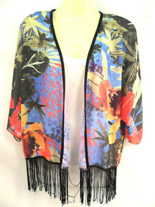 NEW-WOMENS-LADIES-CHIFFON-BOHO-RETRO-KIMONO-HIPPIE-CAPE-JACKET-TASSLE-SHAWL