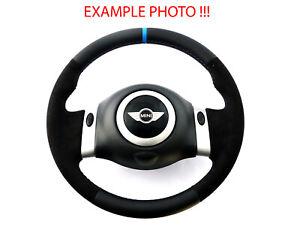 BMW-Mini-Cooper-R50-R52-Cooper-Neuf-Noir-Volant-Cuir-2-Rayon-Bord