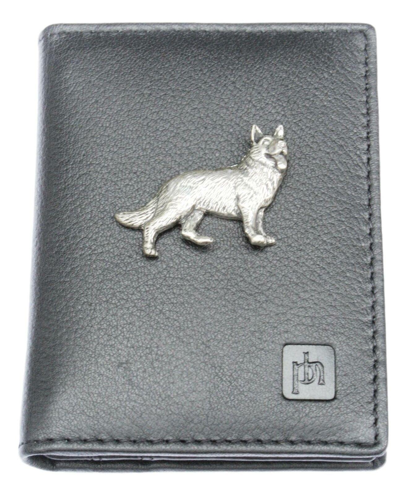 Alsatian Bifold Card Holder Leather Black Wallet RFID Safe 2
