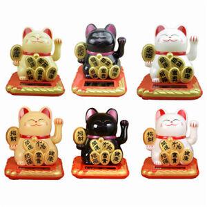 Energie-Solaire-Maneki-Neko-accueillant-Lucky-faisant-signe-Mains-agitaient-Fortune-Cat