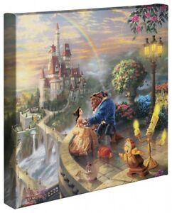 Thomas Kinkade Wrap Beauty and the Beast 14 x 14 Canvas Wrap Disney