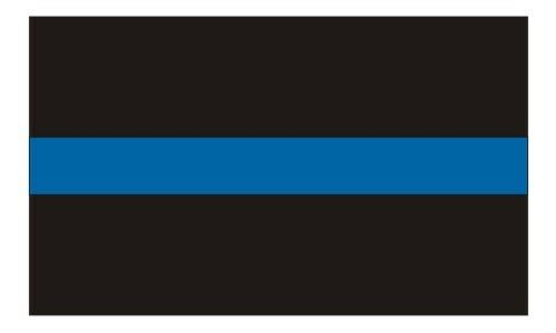 "Thin Blue Line Police Officer Reflective Decal / Sticker Best Quality #118 2""x3"""
