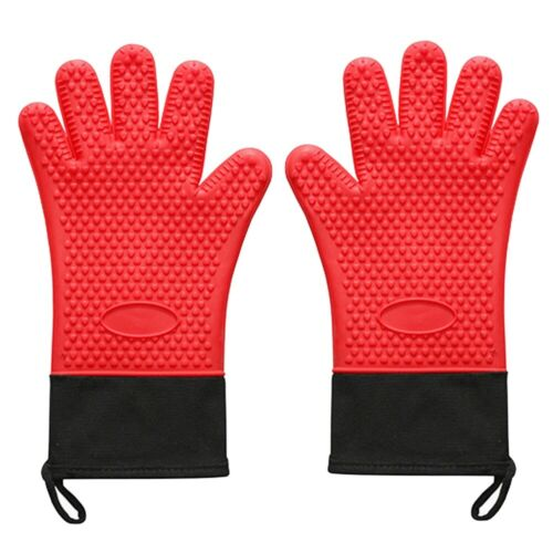 Heat Resistant  Waterproof  Silicone Oven Gloves Grilling BBQ Baking Oven Mitts