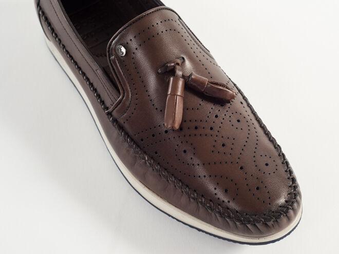 New Roberto Serpentini Serpentini Serpentini braun Leather Made in  schuhe Größe 43 US 10 104cc2