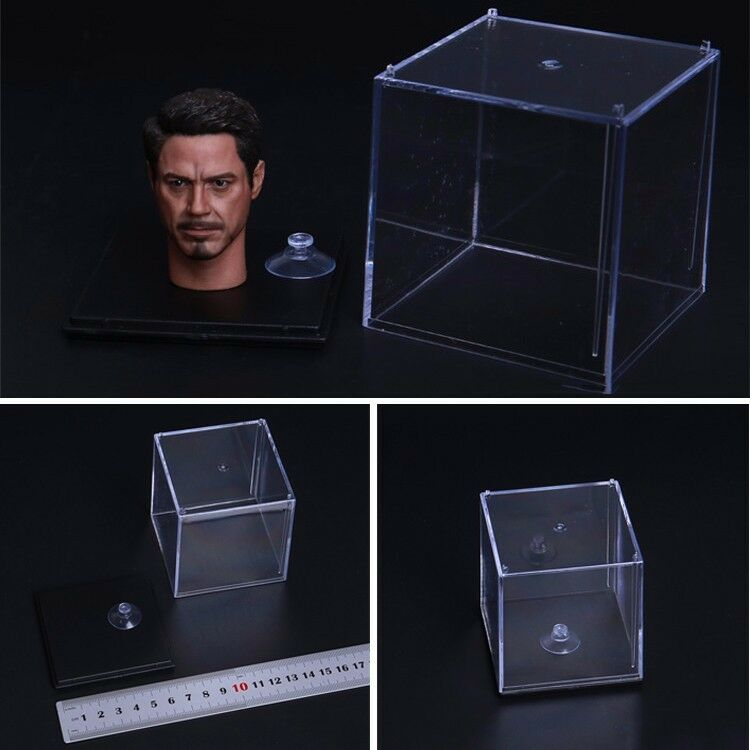 New 1 6 Scale Transparent Display Case Dust Cover Box For 1 6 Head Sculpt Model