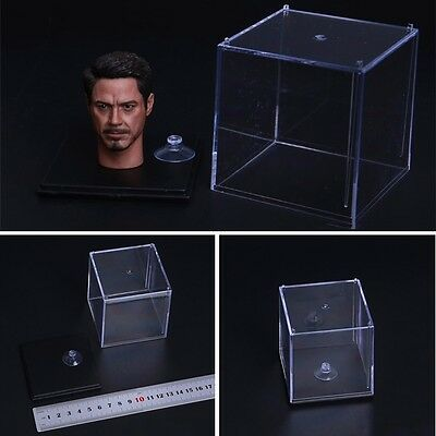 New 1//6 Scale Transparent Display Case Dust Cover Box For 1//6 Head Sculpt Model